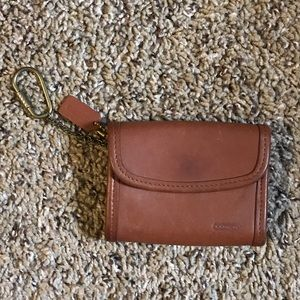 Vintage Coach leather wallet coin